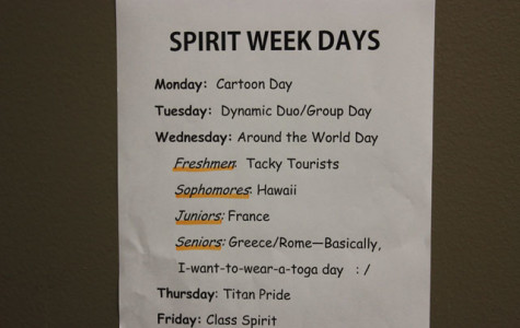 GET YOUR SPIRIT ON BY PARTICIPATING IN SPIRIT WEEK!!
