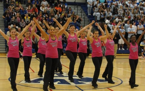 Freshmen girls pirouette onto the Dance Team
