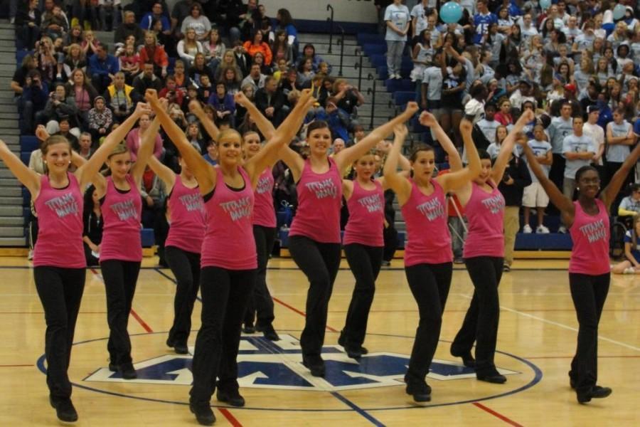 Freshmen girls pirouette onto the Dance Team