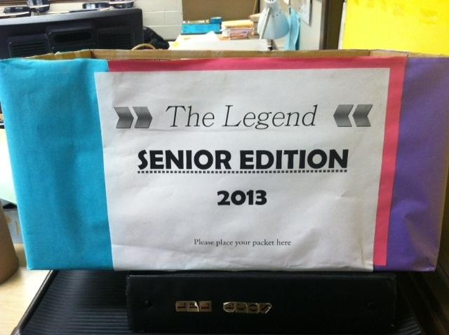 Senior Edition- packets due!!!