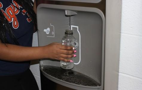 Water bottle re-filler enforces green school status
