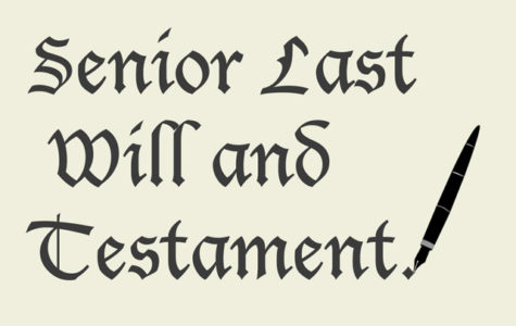 SENIOR WILLS & OTHER FUN SENIOR ITEMS ARE DUE BY 4/27